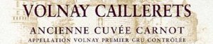 volnay caillerets cuvee carnot