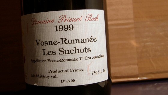 1999 Prieuré-Roch Vosne-Romanée Les Suchots