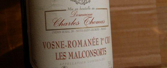 Charles Thomas Vosne-Romanée 1er Les Malconsorts 2001