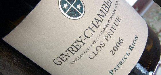 Patrice Rion 2006 Gevery-Chambertin Clos Prieur