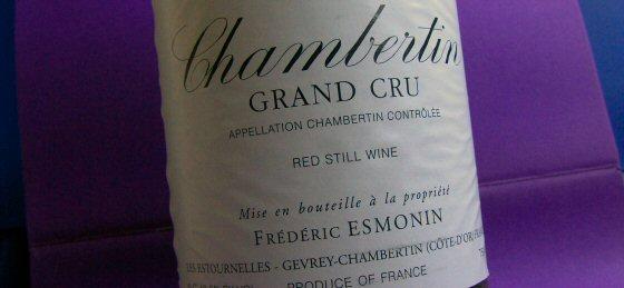 2001 Frédéric Esmonin, Chambertin