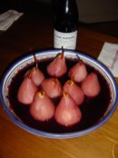 Poached pears and 99 cuvée Duvault-Blochet...