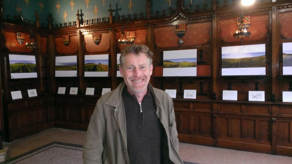 Michel Baudouin exhibiting in the Chambre de Commerce in Beaune