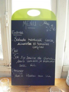 Lunch menu Arlaud day 1