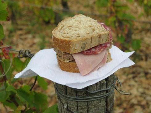 Final Day Marko de M lunch sandwich