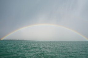 After the rain, wind and hail that hit our boat...