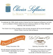 o leflaive with pousse d'or & d duband – hospices weekend dinners