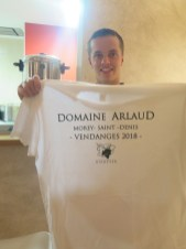 Arlaud Paulee gathering 11 - Proud Ugo with well deserved t shirt
