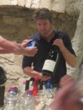 Arlaud Paulee gathering 15 - Cyprien pouring Chambolle Village 09 mag