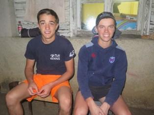 First year vendangeurs both 17 yrs old Victor & Ugo (honestly !) = Victor (H)Ugo !!!