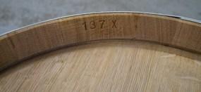 A finished oak barrel....