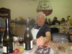 At Dinner 3 - our super chef (kitchen not vines variety)