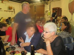 At dinner 1 - J-M Noellat standing behind Donna