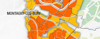 montagny map