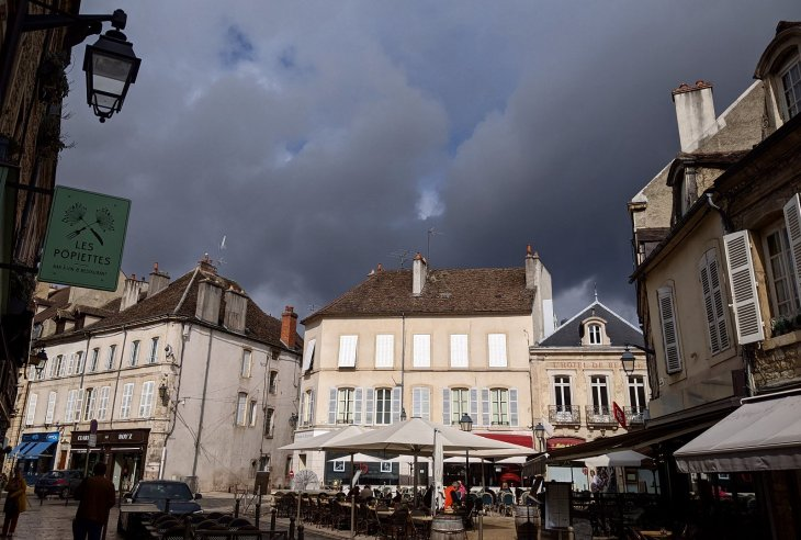 The storm clouds gather. Beaune yesterday