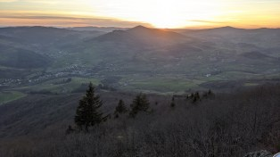 Sunset - tonight's evening run... Croix De Rochefort