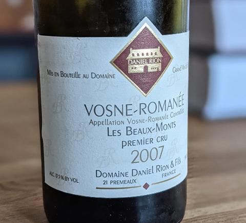 2007 Daniel Rion Vosne Beaux-Monts