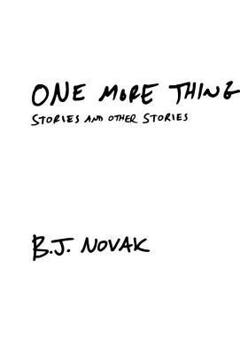 One More Thing Novak