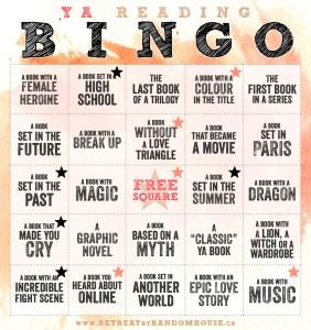 YA Bingo Update Feb