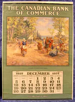 Gallant 1937 Calendar