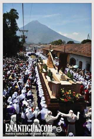 semana santa procession, antigua, guatemala