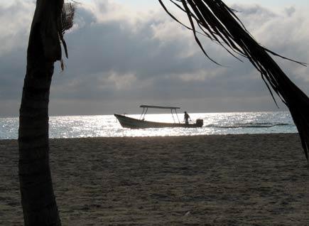 dusk at puerto morelos