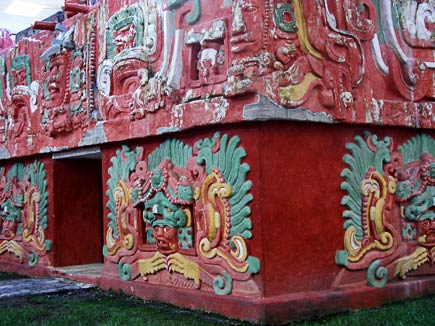 rosalila temple repllica, copan museum, honduras