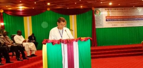 Le Directeur général de l'OOAS, Dr Crespin Xavier © Burkina24