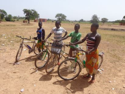 Scholars with their bikes, 2013