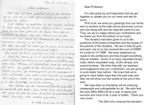 letter from the girls, 2003-2004