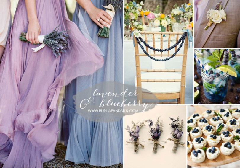 blueberry and lavender wedding inspiration