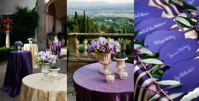 Blueberry and Lavender Cocktail Tables