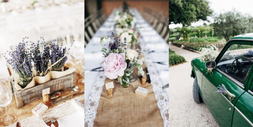 rustic lavender and burlap wedding inspiration