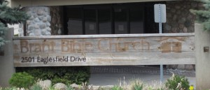 What began as the Brant Bible church is now just a faded sign hidden amongst trees that have grown around it.  The congregation of the Eaglesfield Road church will move to Kerns road and worship there.