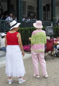 Some people got right into the mood of the Sophisticated  Sound Orchestra.  Couple of ladies were dolled up waiting for dance partners.  No one took to the floor to dance.