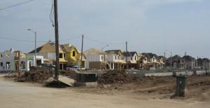 The last major housing development in Burlington is well underway.  Occupancy should begin late in the year.