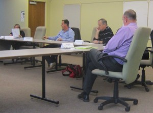 Sparsely attended Transit Advisory meeting - staff talent shows up - members appeared to have missed the bus.