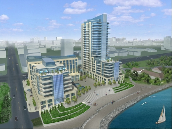 The 22 storey structire that is due to be built on the waters edge will forever change the look of the city. For the better?