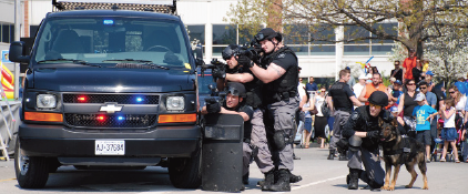 Armed officers