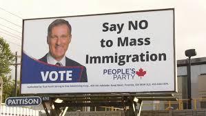 Bernier immigrant sign
