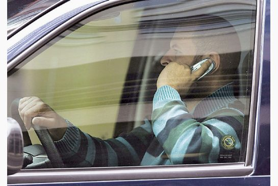Cell phone while driving