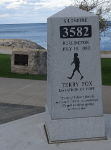 Fox monument with Brant Inn
