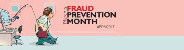Fraud prevention month logo