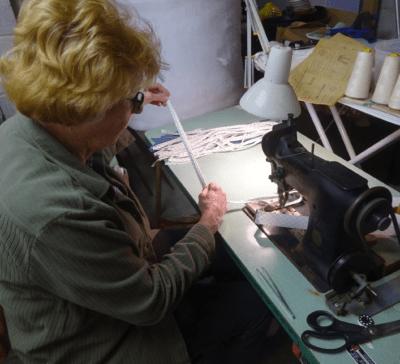 Jan at sewing machine