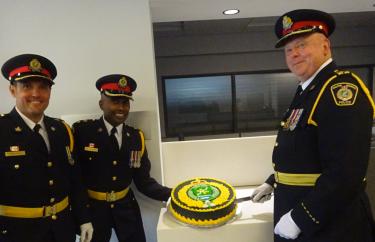 Police senior command at HQ