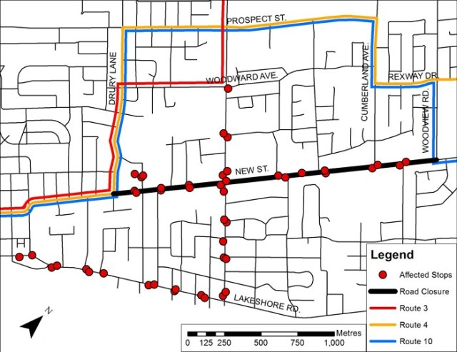 Sept 30 transit detours