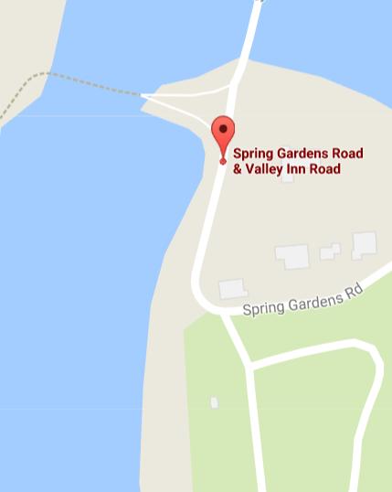 Spring Garden Road closure map