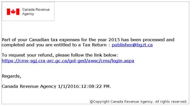 Tax scam - refund