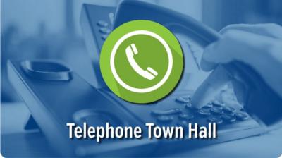 Telephone town hall logo