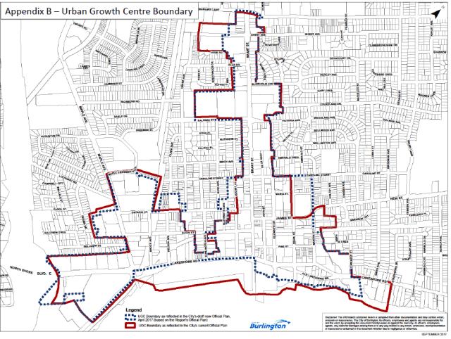 Urban growth centre boundary